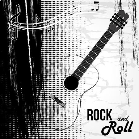 rock and roll design over white background vector illustration  Illustration