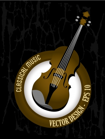classical music over black background vector illustration Stock Vector - 20040960