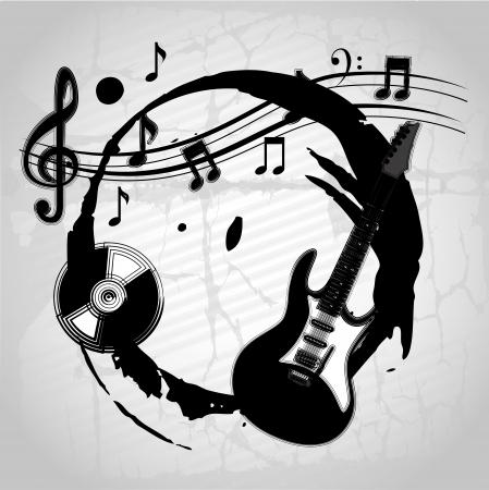musical design over gray background vector illustration  Stock Vector - 20041016