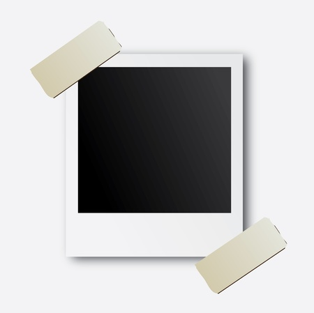 photographs design over white  background vector illustration Ilustração