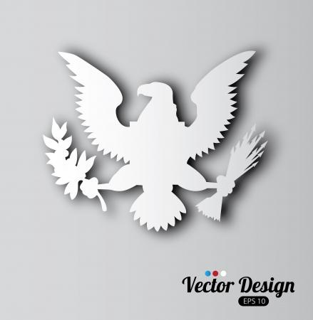 eagle design over gray background vector illustration  Vector