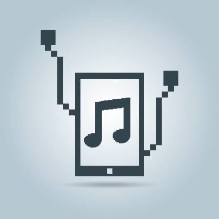 music player over gray background vector illustration  Vector