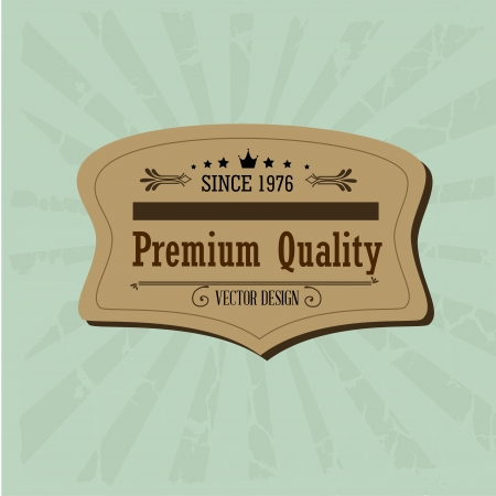 premium qualiti over grunge background vector illustration  Stock Vector - 20053941