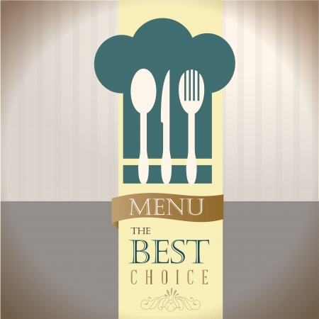 menu the best choice over gray background vector illustration  Vector