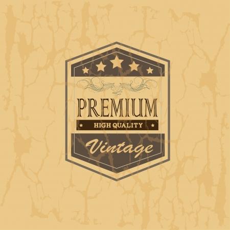 premium frame over vintage background vector illustration Stock Vector - 20053964