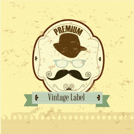 premium design over vintage background Stock Vector - 20053970