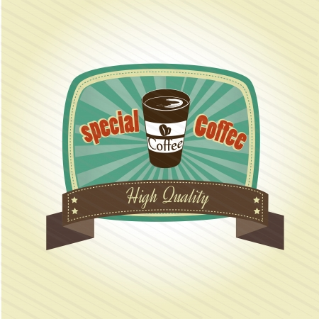special coffee design over grunge background vector illustration  Vector