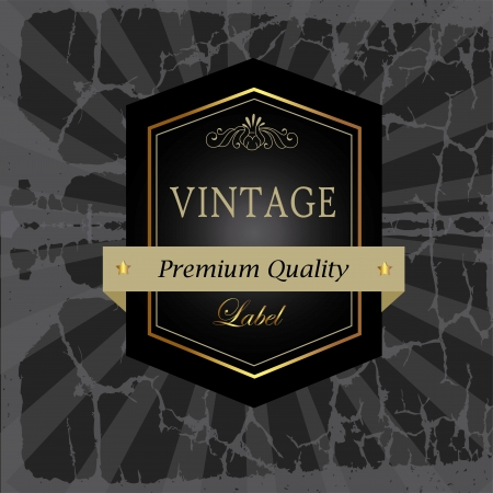 label design over vintage background vector illustration  Stock Vector - 20053972