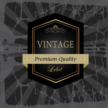 label design over vintage background vector illustration Stock Vector - 20053972