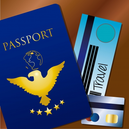 way to go: travel documents over brown background vector illustration  Illustration