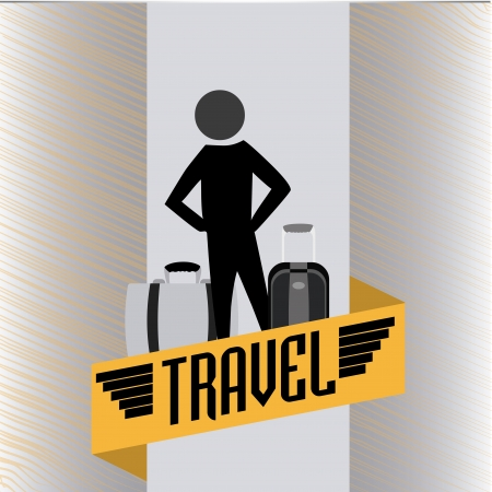 travel silhouettes over gray background vector illustration  Stock Vector - 20054010