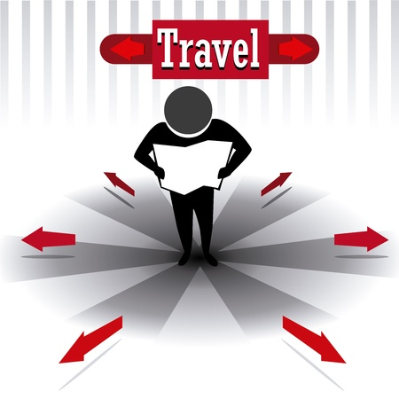 way to go: travel design over white background vector illustration