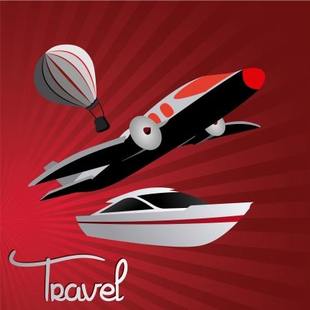 air port: transport design over red background vector illustration