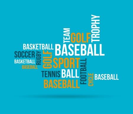 disciplined: sports design over  blue background vector illustration  Illustration