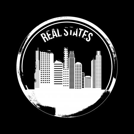 real states design over black background vector illustration Stock Vector - 20107953