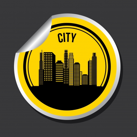 city design over black background vector illustration  Stock Vector - 20107897