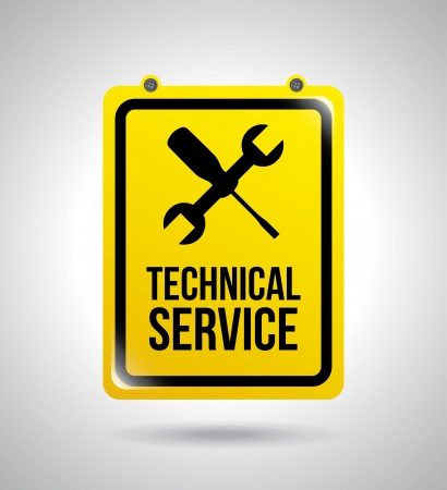 rectify: assistenza tecnica su sfondo grigio illustrazione vettoriale Vettoriali