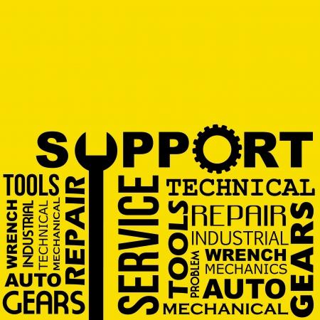 supporto alla progettazione su sfondo giallo