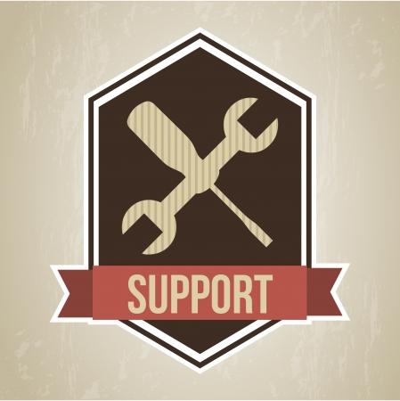 technical service: support frame  over vintage   background vector illustration