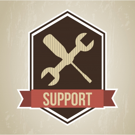 support frame  over vintage   background vector illustration