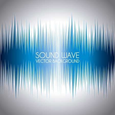 sound wave design over gray background   Vector
