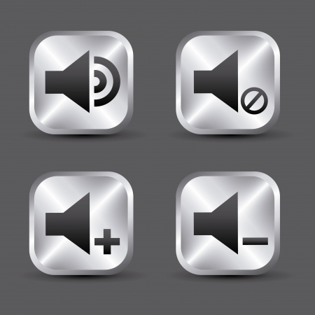 sound icons over gray background vector illustration  Vector