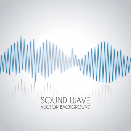 Conception des ondes sonores sur fond gris illustration vectorielle Banque d'images - 20107964