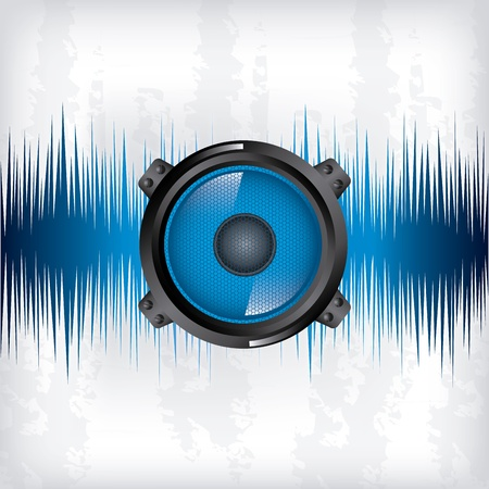 sound wave design over gray background vector illustration  Vector