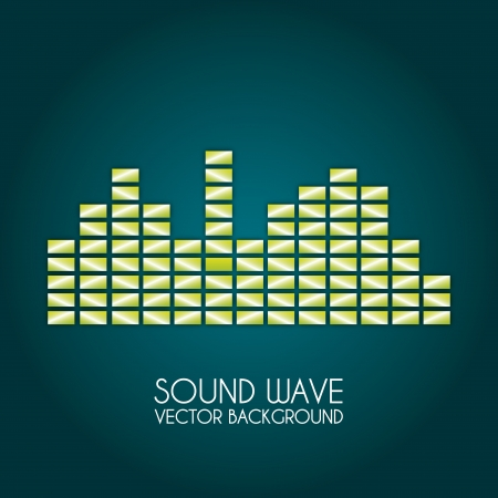 sound wave design over blue background vector illustration  Vector