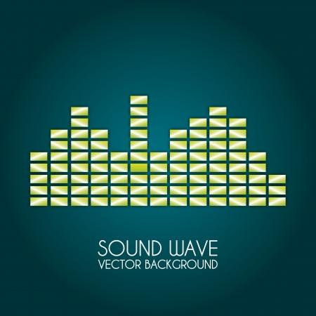 sound wave design over blue background vector illustration Stock Vector - 20107956