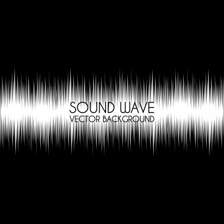 sound wave design over black background vector illustration  Stock Vector - 20107811