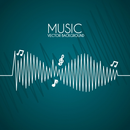 music  design over blue background  Stock Vector - 20107821