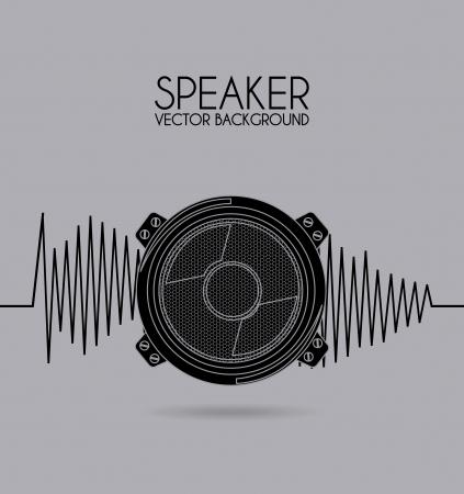 speaker design over gray background vector illustration