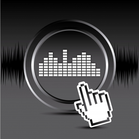 sound design over black background vector illustration  Vector