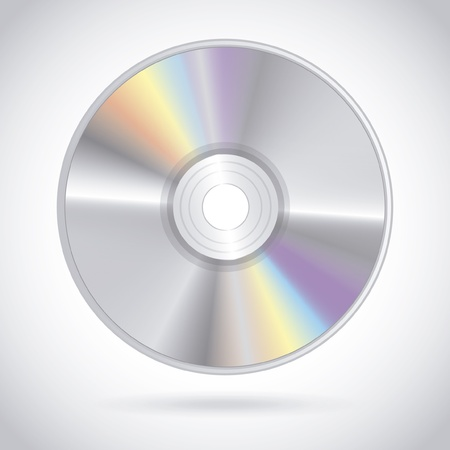 compact disc design over gray background vector illustration