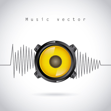 sound wave design over gray background vector illustration  Stock Vector - 20107917