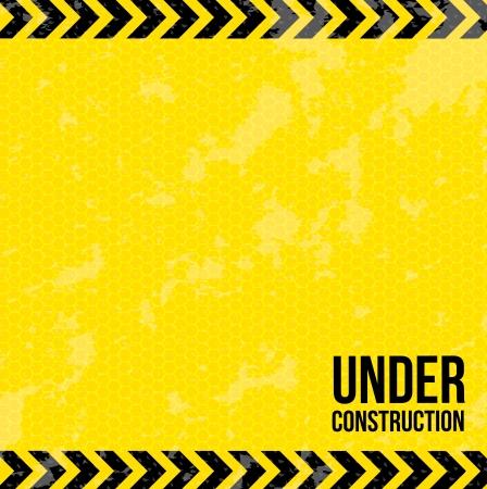 En construcción sobre fondo amarillo ilustración vectorial Foto de archivo - 20150687