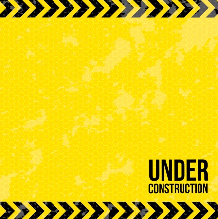 under construction over yellow background vector illustration  Vector