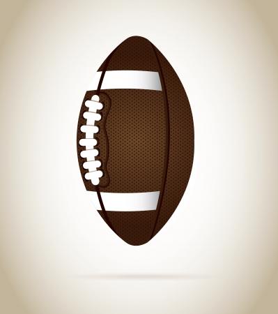 american soccer ball over beige background vector illustration