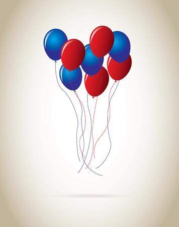 ballons design over beige background vector illustration  Vector