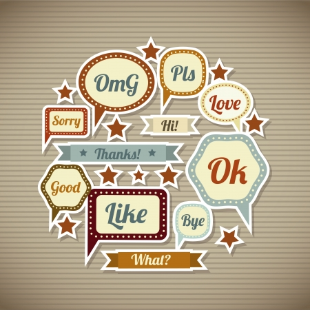 expression icons over vintage background  vector illustration Vector