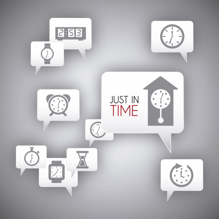 time over: just in time over gray background vector illustration Illustration