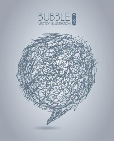 tachado: icono de burbuja sobre fondo gris ilustraci�n vectorial