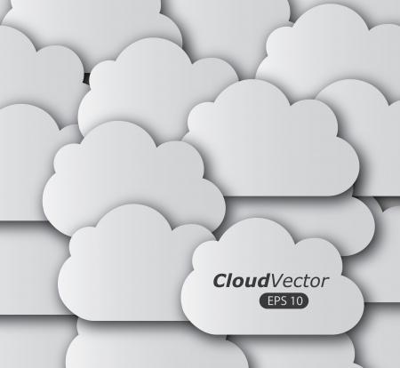 clouding: clouds design over gray  background vector illustration  Illustration
