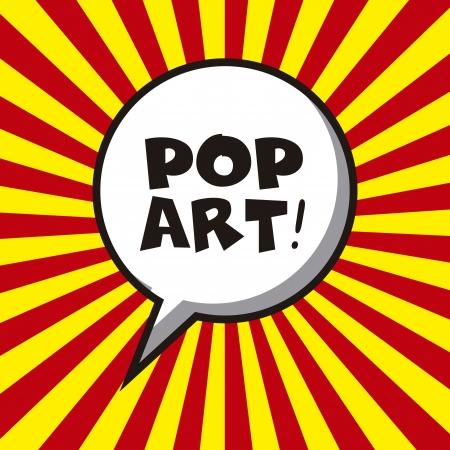 bande dessin�e bulle: design pop art sur fond de lignes illustration vectorielle