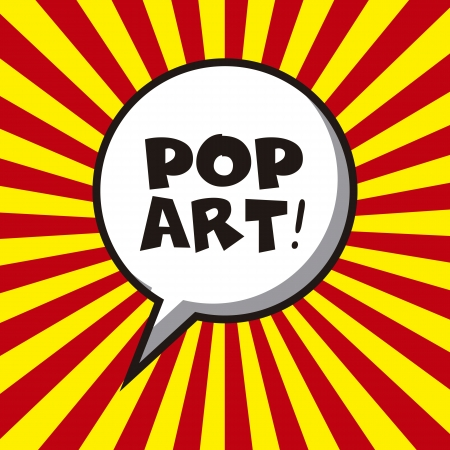 message bubble: pop art design over lines background vector illustration