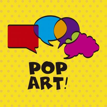 pop art over dotted background vector illustration  Vector