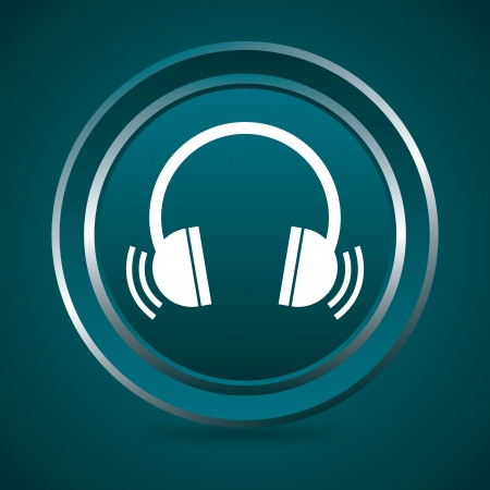 music button  over green background vector illustration  Vector