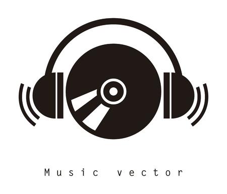 Musik-Design über weißem Hintergrund Vektor-Illustration