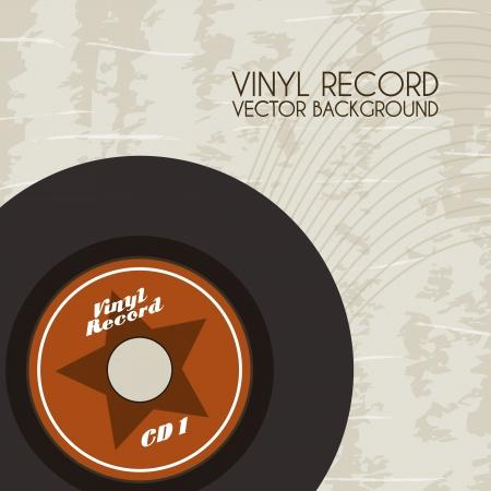 ビンテージ背景ベクトル イラスト ビニール レコード